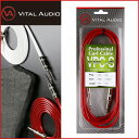 【数量限定カラー】VITAL AUDIO/バイタルオーディオ VPC-S RED/シースルー・レッド 5M S/S Professional Cable プロフェッショナル ケーブル 5メートル2Pストレート/2Pストレート【RCP】【P2】・・・