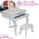 シェーンハット 30鍵盤 ミニグランドピアノ(椅子付) ホワ...