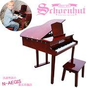 シェーンハット30鍵盤ミニグランドピアノ(椅子付)ホワイト30-KeyWhiteClassicBabyGrandPianoandBench309WSchoenhutトイピアノクリスマスプレゼント、お誕生日プレゼントに♪男の子向け女の子向けおもちゃ【RCP】