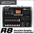 ZOOM/ズーム R8 Recorder:Interface:Controller: Sampler 8トラックMTRとして、オーディオI/Fとして、DAWコントローラーとして モチーフのスケッチから作曲まで幅広くサポート。【RCP】【P10】