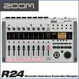 ZOOM/ズーム R24 Recorder:Interface:Controller: Sampler 24トラックMTRとして、オーディオI/Fとして、DAWコントローラーとして モチーフのスケッチから作曲まで幅広くサポート。【RCP】【P10】
