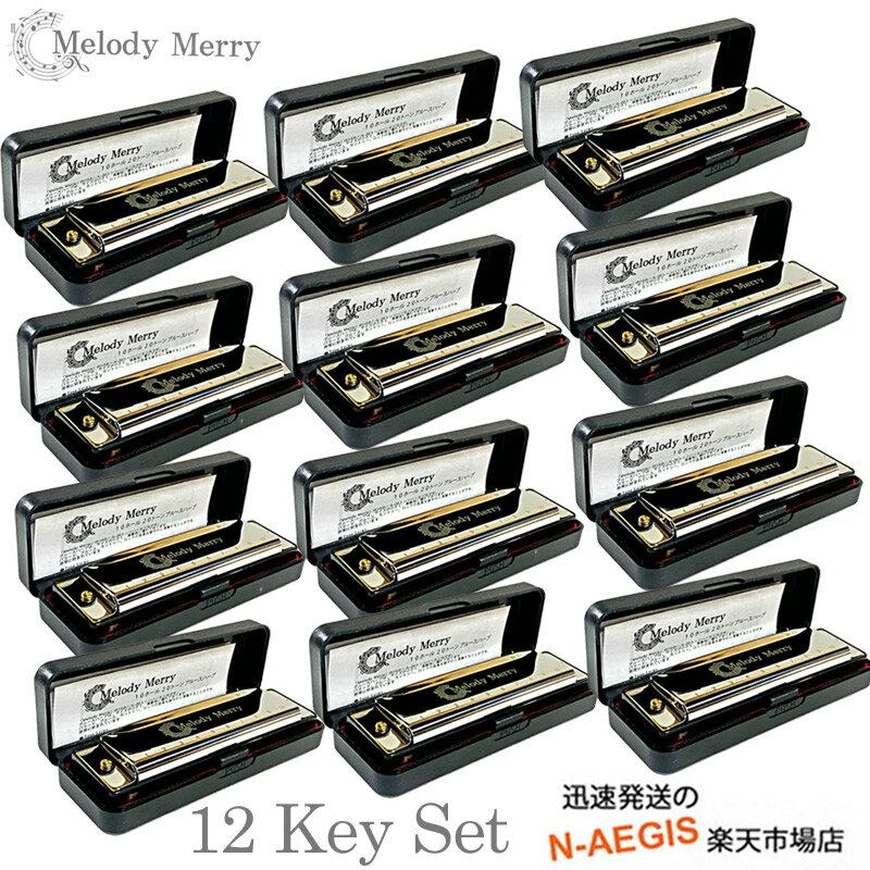 ハーモニカ, 単音10穴ハーモニカ  10(10) Melody Merry MH-100 SET key :CDD E(D)EFFGA(G)AB(A)B 12