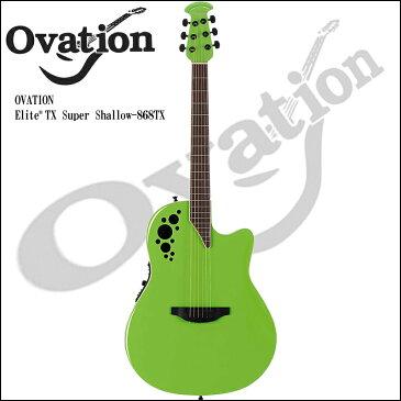 Ovation Elite 1868TX Slime Green TX Series Super Shallow Body【RCP】【P5】
