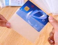 文具シンプルデザイン透明カードケースフィルムポイントカード保険カードを保護お得な5枚入り!