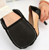 DCMR キッチン マジック 靴 磨き 専用 ふさふさ ハンディ お靴 クリーナー 手袋 方式 で 使いやすい!