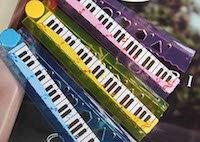 モダンクラシックピアノ鍵盤定規30cm折りたたみルーラーお楽しみカラー