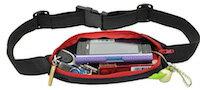 DCMR ウエスト ポーチ ベルト ポーチ ランニング 用 伸縮 フリー サイズ ポーチ ジョギング の 際 の 携帯電話 カメラ 財布 の 収納 【ピンク】