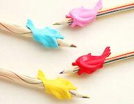 【1個】カラフル小魚金魚鉛筆握り方学習鉛筆矯正グリップペン豆防止お楽しみカラー