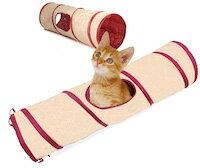 DCMR ペット用品 1点 猫 コンパクト 折りたたみ ねこ ドーム トンネル 蛇腹 おもちゃ