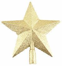 DCMR メリー クリスマス キラキラ パーティー ツリー トップ スター 幸せ パレード オーナメント 飾り 付け 1個 クラシック レトロ スタイル ダメージ 加工済