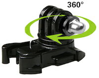 DCMR カメラ GoPro 用 平 固定 マウント 360度 回転 ユニット