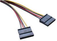 DCMR 電機 電線 4P 変換 15Pin sata 二股 分岐 CPU 電源 供給 延長 ケーブル 1点