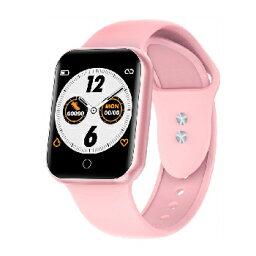 タスク【カラー液晶】腕時計型 多機能スマートウォッチ スマートR NY-07-PK(ピンク)★【ストップウォッチ機能】