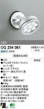 オーデリック 屋外LEDスポットライト OG254061
