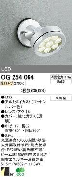オーデリック 屋外LEDスポットライト OG254064