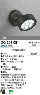 オーデリック 屋外 LED スポットライト OG254081