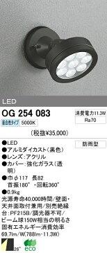 オーデリック 屋外 LED スポットライト OG254083