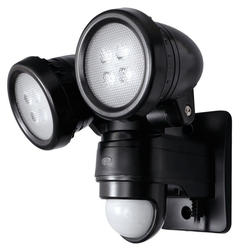 DXアンテナ デルカテック 防犯 LEDセンサーライト 【2灯型】 DSLD10B2