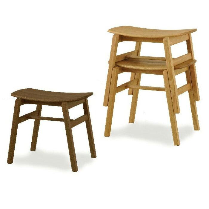 木製スツール・YUME2-スツールNR/WBNR天然木