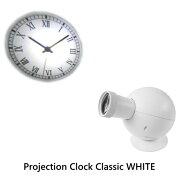 プロジェクションクロック クラシック ホワイト Projection プロジェクター 置き時計