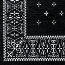 玄関マット クロス バンダナ ラグ Black 80×50cm Cross Bandanna Rug ブラック 室内 バンダナ柄 マット 洗える 3
