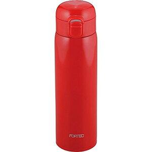 和平フレイズ 水筒 マグボトル 500ml ワンタッチ 軽量 保温・保冷 真空断熱 レッド フォルテック・パーク FPR-8302