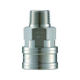 クイックカップリング TL型 ステンレス製 メネジ取付用 ナック CTL04SM3-5172