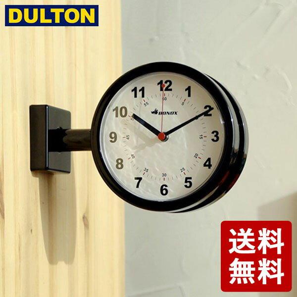 【全品P5〜10倍】【予約販売:次回5/末〜入荷】DULTON ダブルフェイスクロック 170D ブラック S624-659BK 両面時計 インダストリアル 男前 シンプル ダルトン DIY