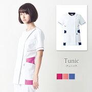 チュニック(女)UN-0041【白衣】【S〜3L】【ポリエステル100%】【ユナイト/UNITE】