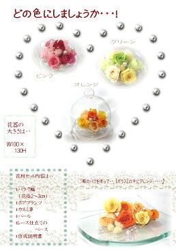 【送料無料】【母の日/ギフト可能】ブリザードブドフラワー作成キット ガラスドーム!!花工房「花あそび」