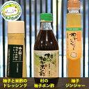 【東峰村名産品】柚子3点セット 柚子ジンジャー(柚子と米酢のドレッシング村の柚子ポン酢)