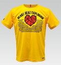 【VALETTE/バレット】Heart Beat (ハートビート) yellow(イエロー) ポケT【サイクルジャージ/サイクルウェア/自転車/Tシャツ/レプリカ/サイクル/ロードバイク/ウェア/ユニフォーム/ランニングウェア/フィットネスウェア】