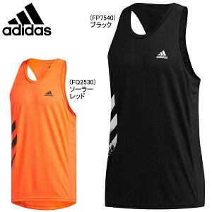 メール便送料無料 アディダス OTR 3ストライプス シングレット ノースリーブ adidas メンズ タンクトップ 袖なし ランニング ジョギング スポーツウェア IDE48
