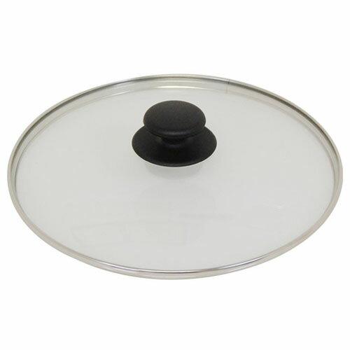 ウルシヤマ金属 ユミック ガラス蓋 28cm (黒つまみ)