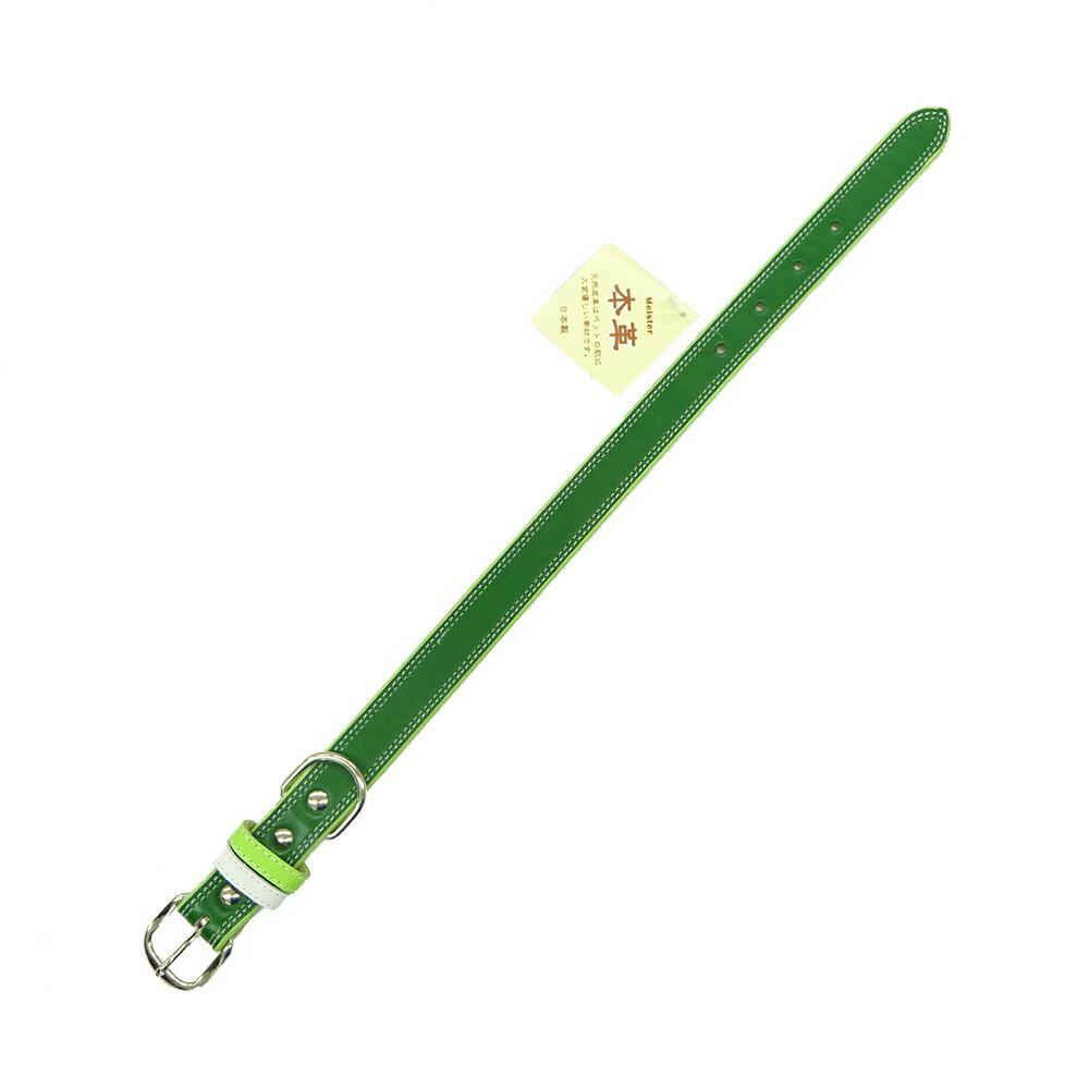 マイスター Wレザーカラー 24 緑 M1855G
