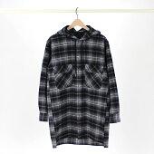 【BLACK&BLUEブラックアンドブルー】HOODEDLONGSHIRTフーデッドロングシャツ