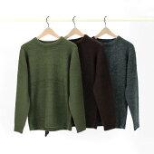 【TOWNCRAFT】タウンクラフトモヘアクルーネックセーター