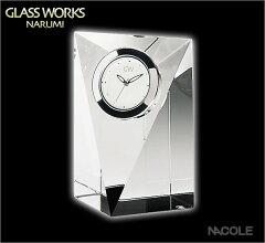 割引きセール!内祝い/新築内祝い/新築祝いGLASS WORKS NARUMI(ナルミ)のガラスの置時計ギフト【...