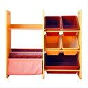 2Wayブック&小物収納 チョコレートブラウン&カフェオレ 子供用収納 収納ケース 本棚 おもちゃ箱 キッ...