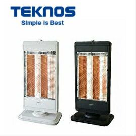 TEKNOS カーボンヒーター 2灯 切替式  CHM-4531W/K ホワイト/ブラック 転倒オフスイッチ/転倒OFF 首振り機能 温度過昇防止装置 暖房器具 テクノス