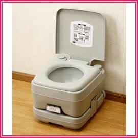 ■送料無料■本格派ポータブル水洗トイレ 10L 水洗式の簡易トイレで清潔&快適 レジャーや緊急時にも重宝 ■送料無料■