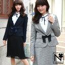 スーツ レディース入学式「なでしこ」フロントリボンスカートスーツ...