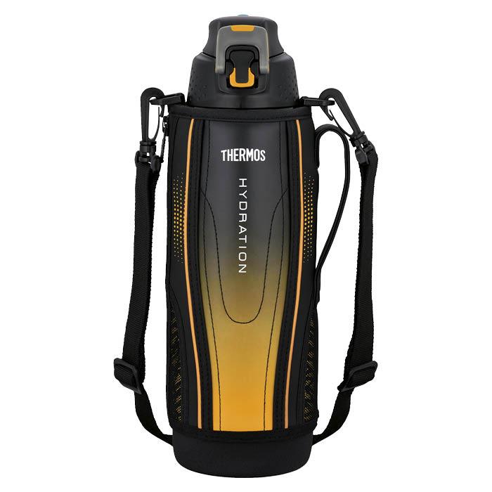 サーモス ワンタッチ・オープンで水分をクイックチャージ ライトを反射するリフレクショングラフィック 1.5L 真空断熱スポーツボトル FFZ-1502F BK-G