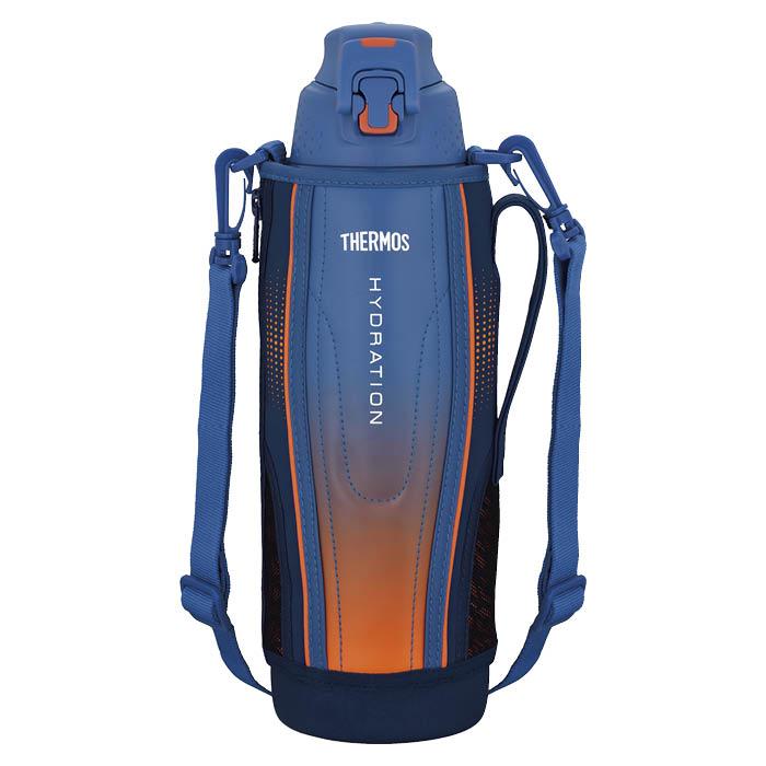 サーモス ワンタッチ・オープンで水分をクイックチャージ ライトを反射するリフレクショングラフィック 1.5L 真空断熱スポーツボトル FFZ-1502F BL-G