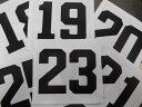 『1〜99』番まで作成!少年野球 ユニフォーム背番号/ゼッケン