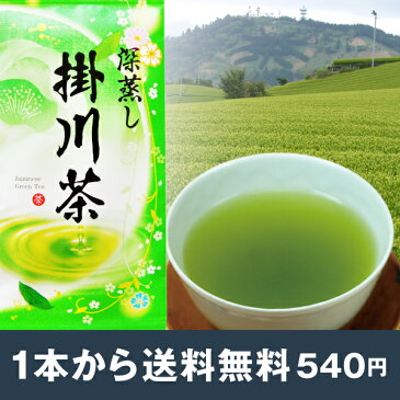 2018年度産 深蒸し茶 掛川茶100g お茶 茶葉 静岡茶 煎茶 深むし茶 緑茶 ポスト投函便送料無料