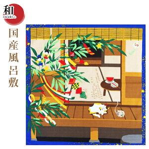국산 소형 후로 시키 고양이와 타나바타 (500mm × 500mm) [우편 우편 배송] 타나바타 여름 기타 고양이 용품