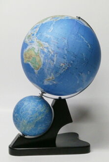 昭和カートン 地球儀  日本製 二球儀 地勢図タイプ 地球儀26cm球 天球儀13cm球 26-TWJ