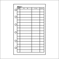ASHFORD ミニ6穴サイズシステム手帳用リフィル マネーリーフ
