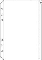 Davinci システム手帳リフィル A5サイズ ファスナーポケット